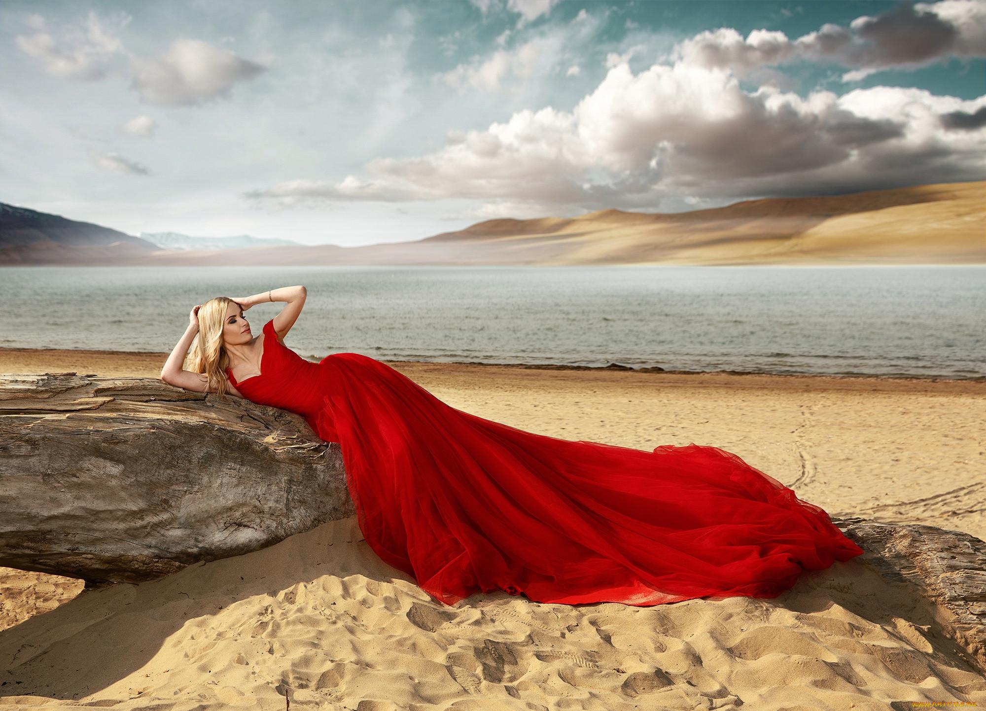 ностальгией, кто красные платья у моря фото жизненные